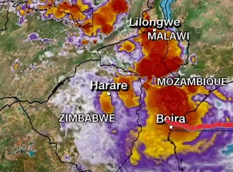 Area del ciclone Idai tra Mozambico, Zimbabwe e Malawi (Courtesy CNN)