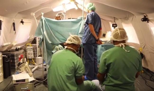 Sala operatoria del Posto Medico Avanzato italiano a Beira (Courtesy Dipartimento Protezione Civile)