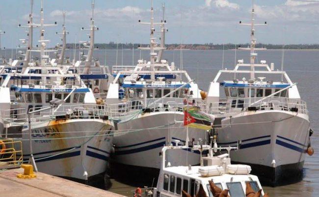 ex presidente Pescherecci della Ematum ancorati al porto di Maputo