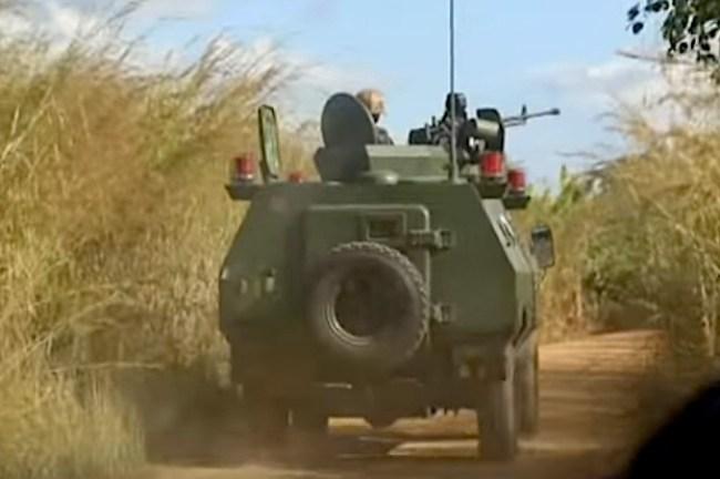 Blindato della Forze armate Mozambicane