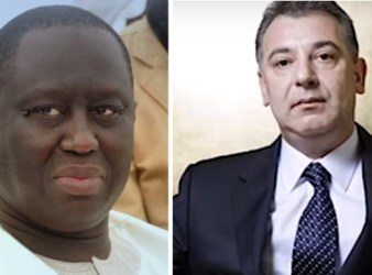 Da sinistra: Aliou Sall, fratello del presidente de lSenegal e il magnate Frank Timis