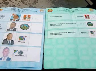 Mozambico, Elezioni presidenziali 2019, schede elettorali precompilate