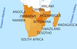 Mappa dei Paesi africani colpiti dalla siccità. Quelli più scuri hanno maggiore bisogno di aiuti umanitari (Courtesy UE)