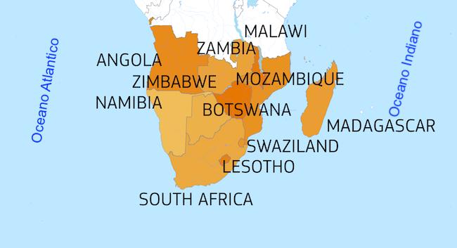 Cartina Africa Sud.Dono Dell Europa 23 Milioni Di Euro Per Aiuti Umanitari In Africa Meridionale Africa Express Notizie Dal Continente Dimenticato