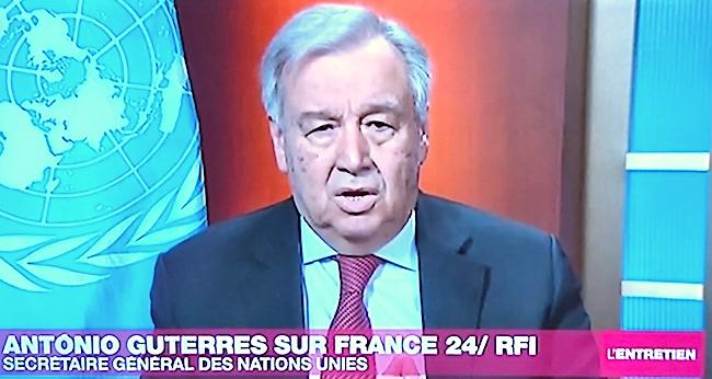 il Segretario ONU, Antonio Gutierrez, su France24 (Courtesy France24)