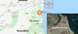 Mappa che indica l'attacco jihadista a Mocimboa da Praia (Courtesy: GoogleMaps)