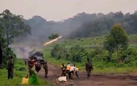 Momenti di una delle battaglie contro i jihadisti a Cabo Delgado