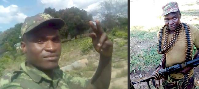 Il soldato Ramiro Moises Machatine delle Forze armate mozambicane (FADM)