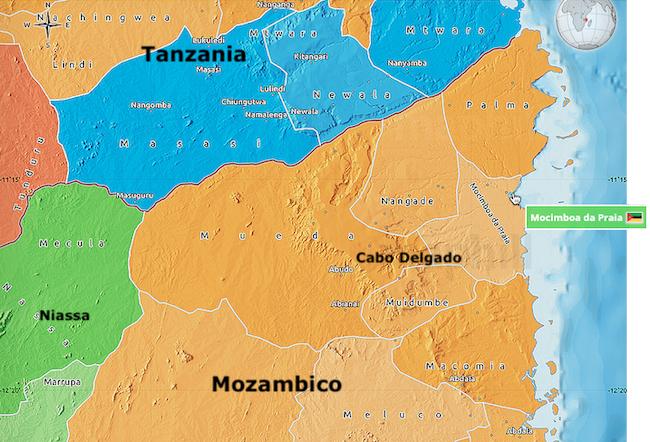 CJI mappa di Cabo Delgado e parte del Niassa