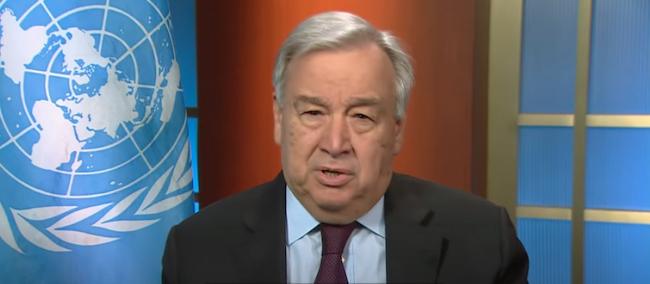 Il Segretario ONU, Antonio Gutierrez contro la strage jihadista (Courtesy ONU)