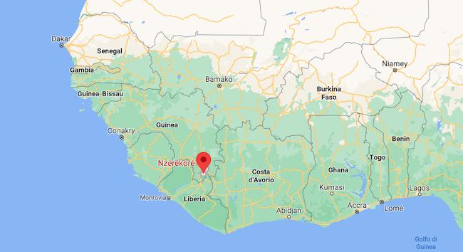 ebola mappa inizio contagio Guinea