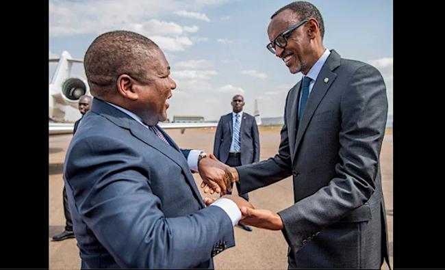 militari ruandesi Nyusi e Kagame