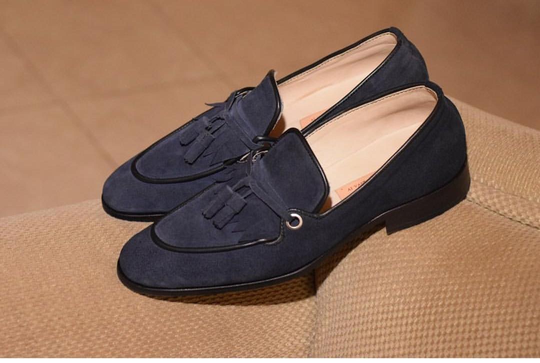 b0c1c7f265c Black Fashion Dress Shoes for Men - Black Tassel Loafers for Men -  AFRICABLOOMS