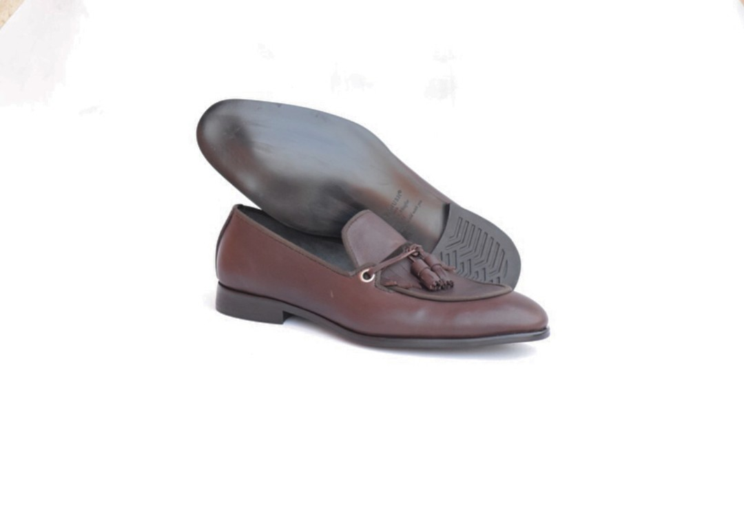 b0d8fd9e392 Chocolate Brown Mens Tassel Loafers - Dress Shoes for Men - AFRICABLOOMS