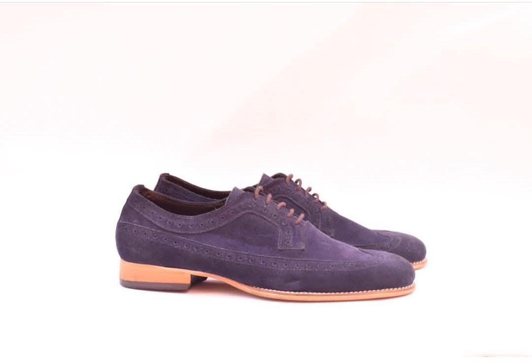 mens purple dress shoes