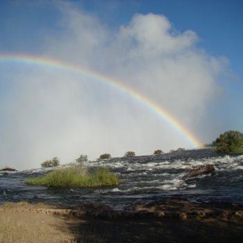 Rainbows above Victoria Falls