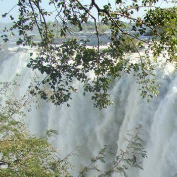 Victoria Falls in flood