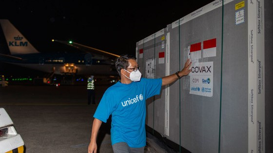 The first COVID-19 vaccines provided under the COVAX Facility arrived in Indonesia in March, 2021.