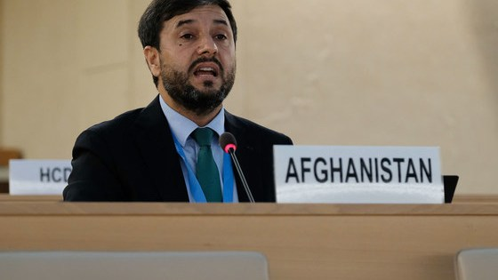 Ambassador Nasir Ahmad Andisha of Afghanistan addresses the Human Rights Council Special Session on Afghanistan.