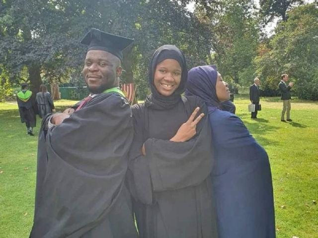 Aisha Yesufu and her kids celebrate