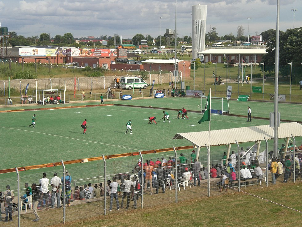 Hockey turf in Lusaka