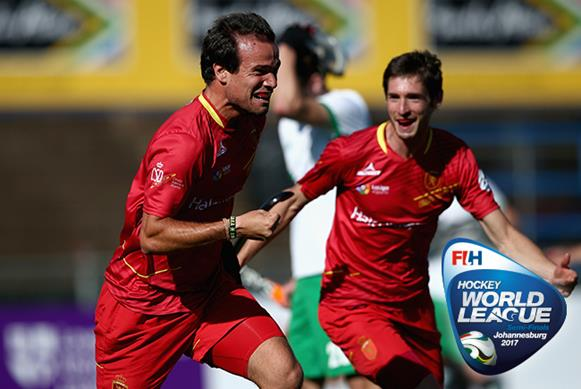 Spain were one of the four winners on Day 12 in Johannesburg. Copyright: FIH / Getty Images