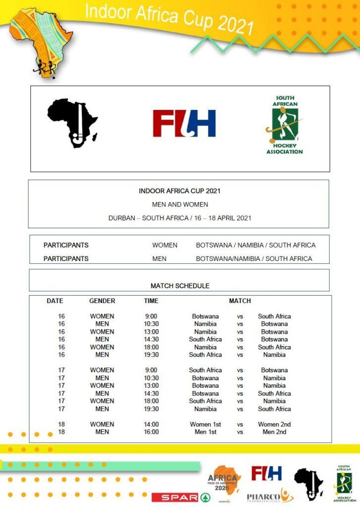 Indoor Africa Cup 2021 Fixtures