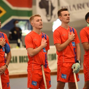 Namibia Men continue their winning streak on Day 2 of the Indoor Africa Cup