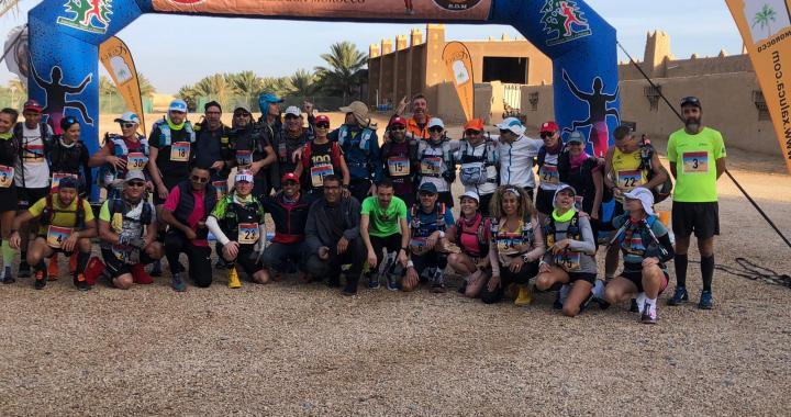Aziz el Akad et Blanchard Karine remportent la première étape du 4ème «Race Désert Marathon»