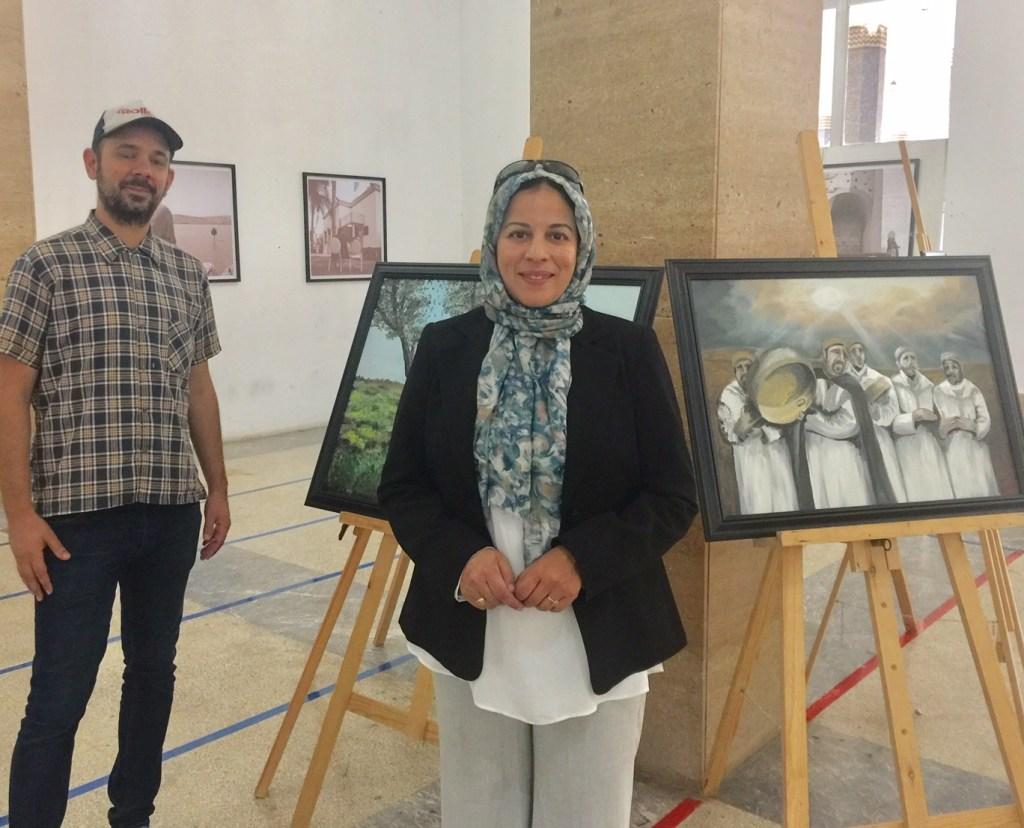Exposition itinérante franco-marocaine: Hanan Bourokba et Aurelien Bouyssou dans les villes de la région Fès-Meknès