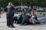 A Muslim convert shot dead a Canadian soldier at the National War Memorial in Canada