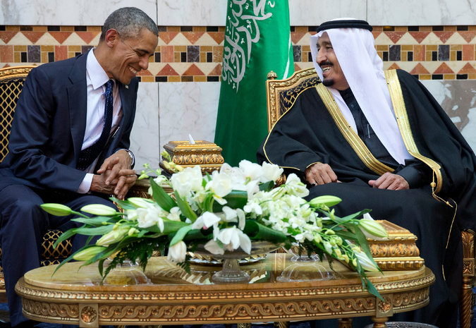 President Obama met King Salman in Saudi Arabia