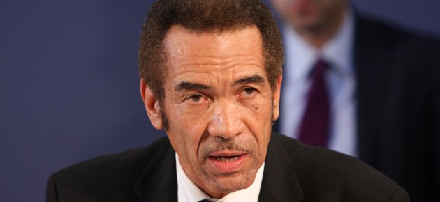 Botswana President Ian Khama in Sweden