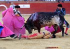 Spanish bullfighter Víctor Barrio, 29, killed by a bull in front of his wife during annual bull run festival