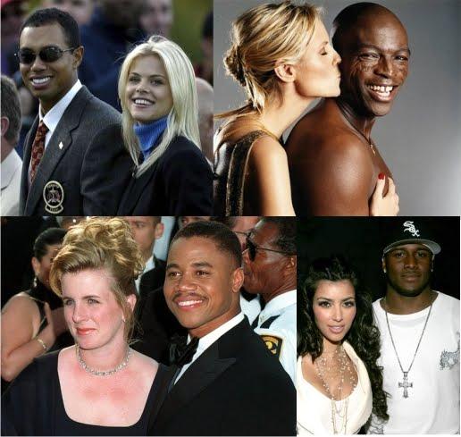Men African black women white