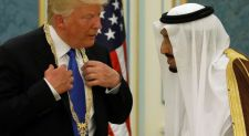 Donald Trump arrives in Saudi Arabia, kicking off first foreign trip as president