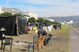 Families Living in Tents Outside Complex They Were Evicted From