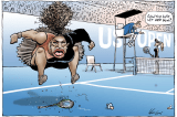 Australian cartoonist under fire for Serena Williams sketch