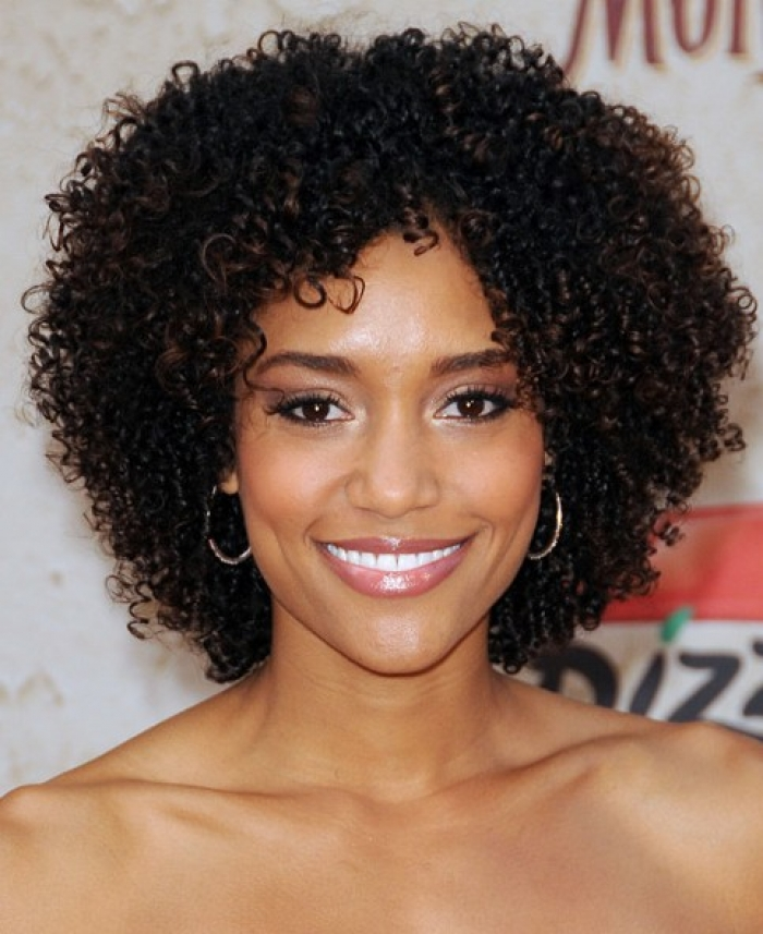 Short And Curly Natural Hairstyles