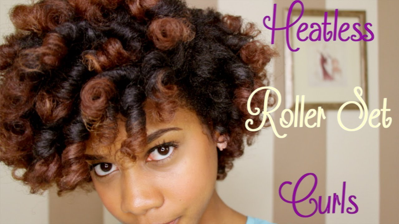 Black Hair Roller Set Styles: How To Do Perfect Curls With Heat-less Roller Set Black Hair