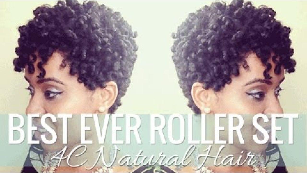 Best Roller Set On Short 4c Natural Hair Styles