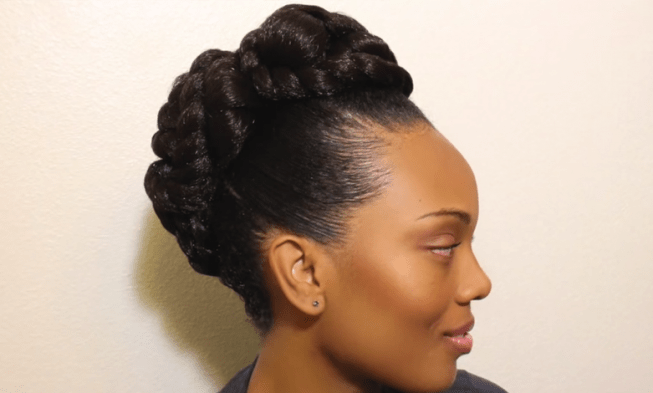 Transitioning To Natural Hair Updo Hairstyle