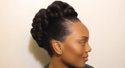 transitioning natural hair updo