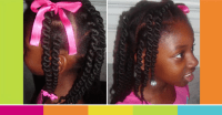 African Box Braids styles For Kids Using Sewing Weave Thread