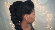 braided mohawk fancy updo - african