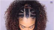top braided & curly crown princess