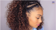 top braided & curly crown princess