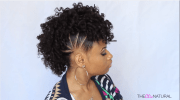 fun pony hawk curly natural hairstyle
