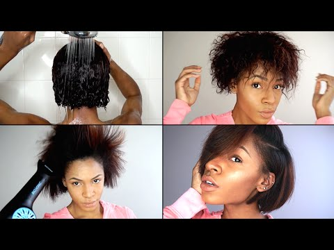 How To Wash Blow Out Straighten Natural Hair For Best Result