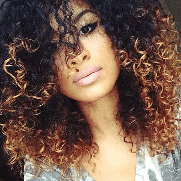 3 Hot Curly Hair With Blonde Highlights Pics That Will Take Your